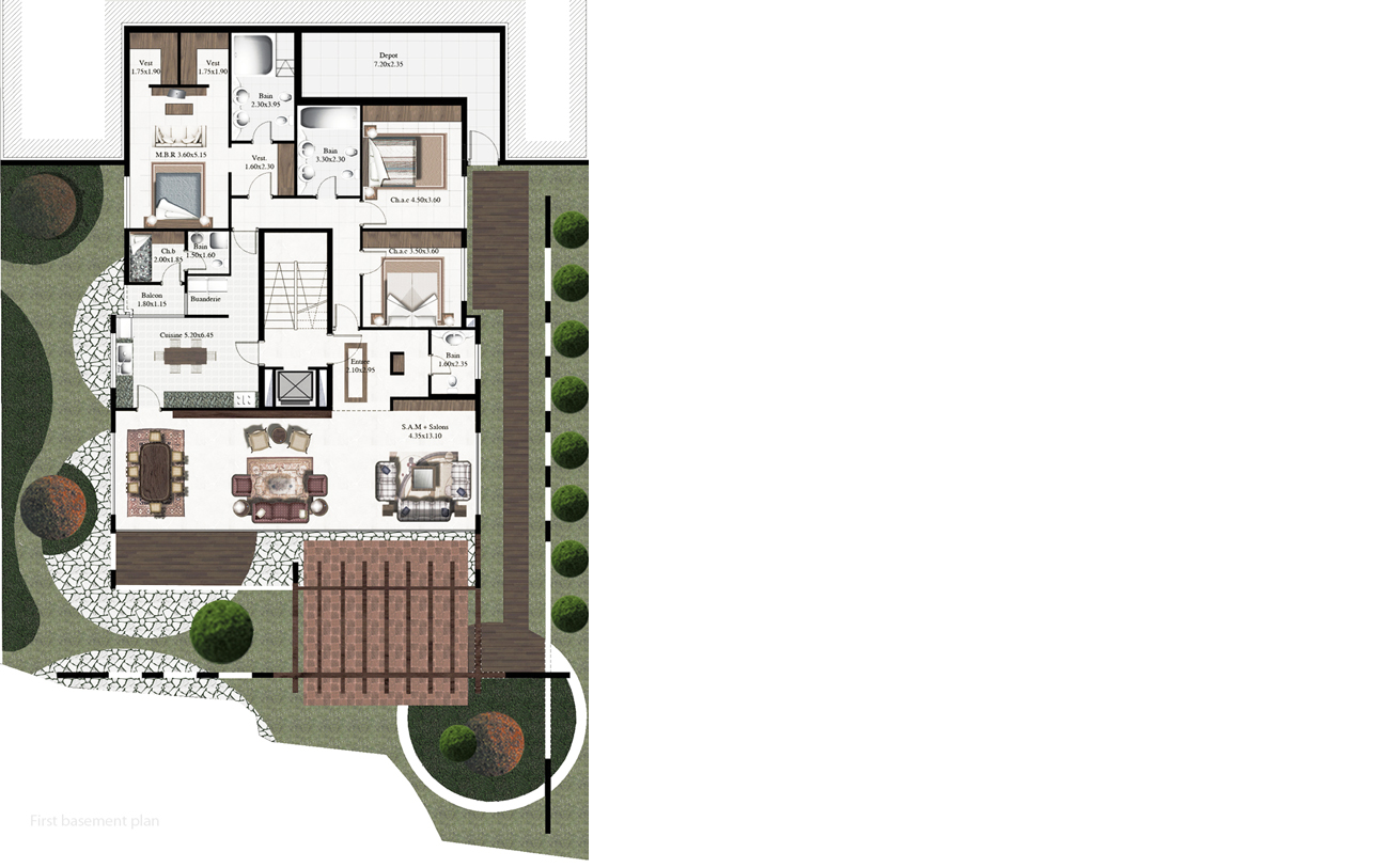 first basement plan-W